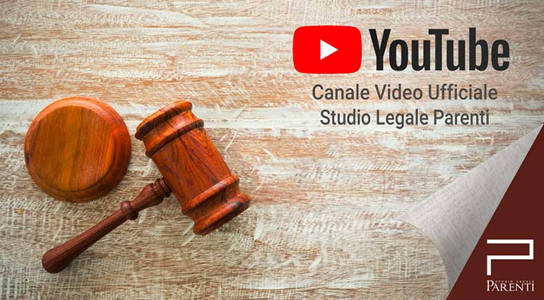 Canale YouTube Studio Legale Parenti
